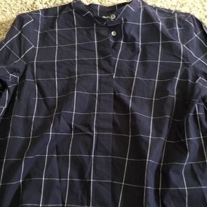 Navy Blue Plad Madewell Top